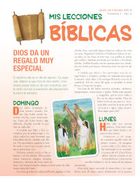 Spanish Kindergarten Bible Lessons