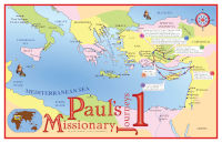 Poster: Map — Journeys of Paul-1