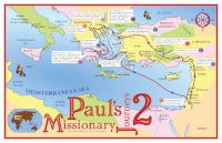 Poster: Map — Journeys of Paul-2