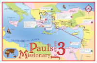 Poster: Map — Journeys of Paul-3