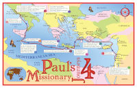 Poster: Map — Journeys of Paul-4